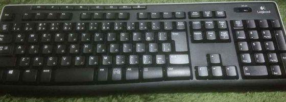 logicoolのキーボードの画像。カチカチ