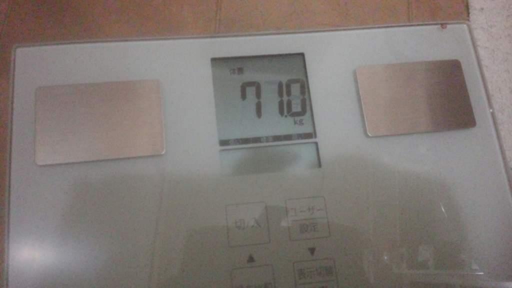 現在の体重計の数値