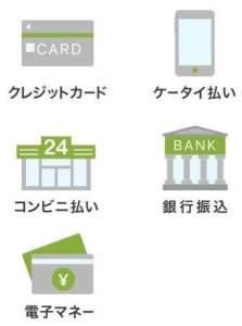 お支払い方法の一覧