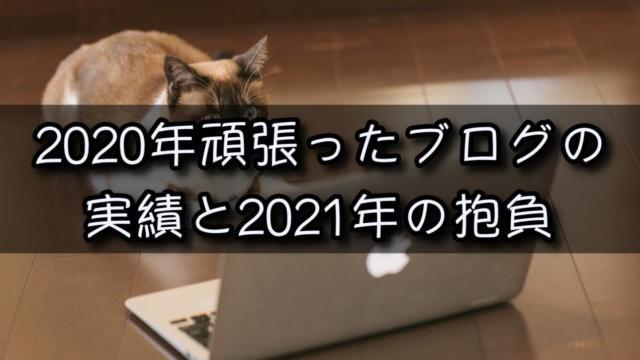 2020年ブログの実績